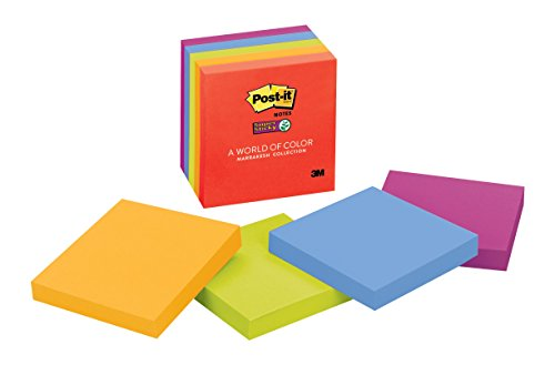 Post-it-Super-Sticky-Notes-3-in-x-3-in-Assorted-Electric-Glow-Colors-5-PadsPack-0