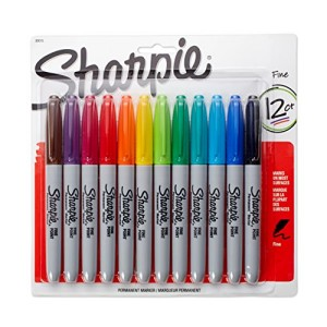 Sharpie-Fine-Point-Permanent-Markers-12-Pack-Assorted-Colors-0